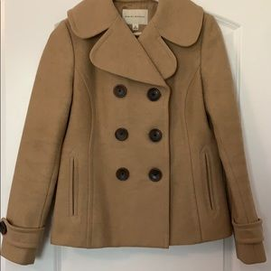 Beautiful Banana Republic Camel Colored Pea Coat